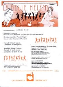 Affiche - La Belle Hélène 2002