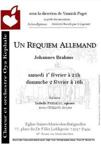 Affiche - Concert 2003 - Un Requiem Allemand