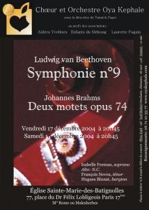 Affiche - Concert 2004 - 10 ans d'Oya Kephale