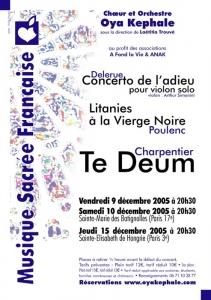 Affiche - Concert 2005 - Musique sacrée française