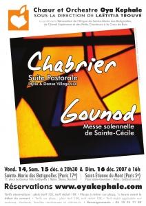 Affiche - Concert 2007 - Chabrier, Gounod