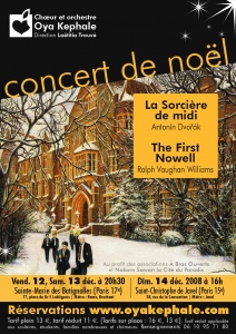 Affiche - Concert 2011 - Dvořák, Williams, Gounod, Duruflé