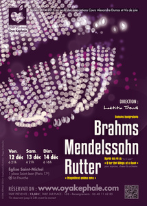 Affiche - Concert 2014 - Brahms, Mendelssohn, Rutter